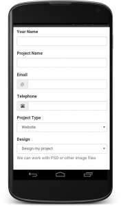 Mobile friendly contact forms