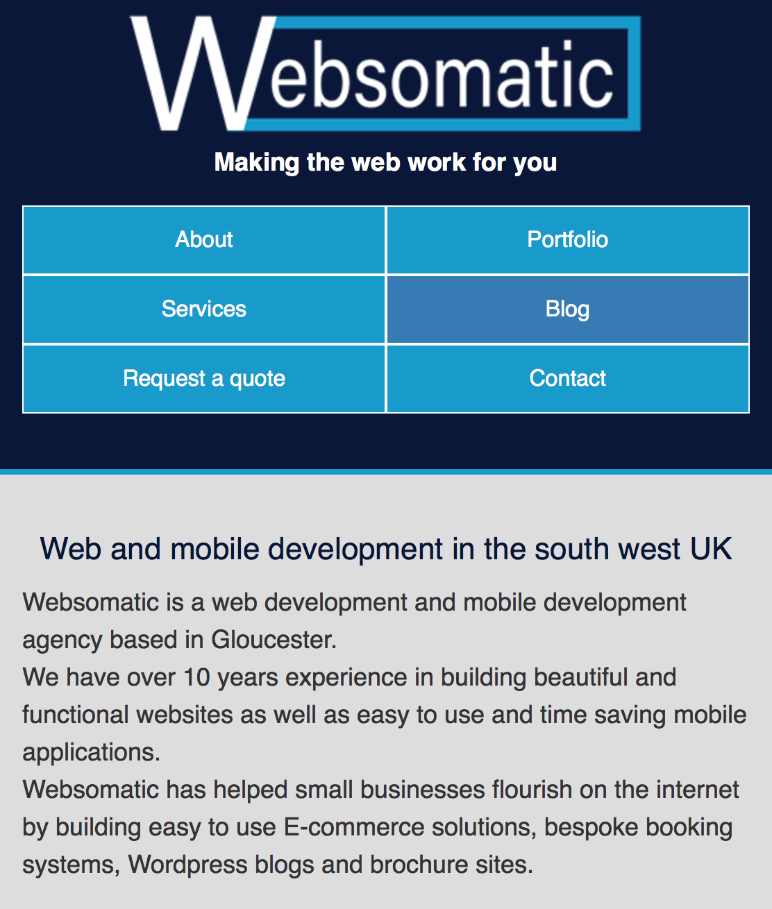 Websomatic has a responsive and mobile friendlywebsite